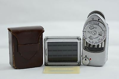 Vintage Leica M Camera Mc Light Meter With Booster Cell