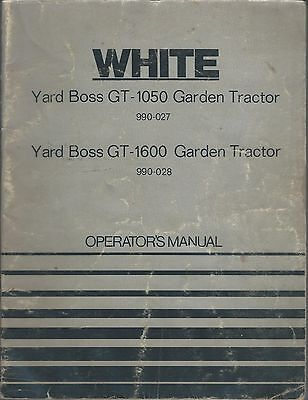 Equipment Manual - White - GT-1050 1600 Yard Boss Garden Tractor - 1973 (E3302)