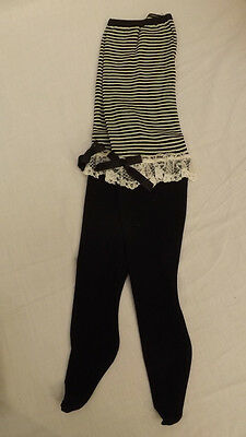 Vtg WHOOPIETITES Tights/Petti Pants Adorable Black/White w/Ruffles 12-14 NOS