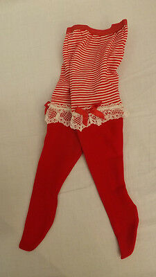 Vtg WHOOPIETITES Tights/Petti Pants Adorable w/ Ruffles 1-3X Christmas Red NOS