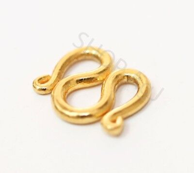 22K 22KT SOLID PURE REAL GOLD CLASP FOR 23K 24K baht NECKLACE LOCK  2 baht chain