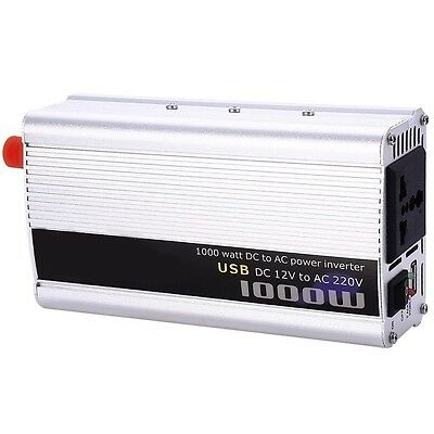 1000W Power Inverter DC 12V AC 220V Voiture Convertisseur Electronique USB AFR