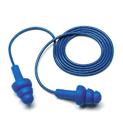 Industrial Earplugs 3M Blue Tracers Detectable Reusable Silicone Ear Plugs 32db