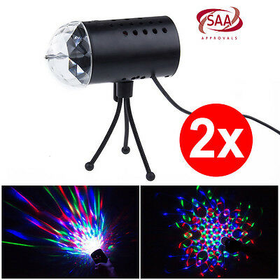 2x RGB LED Laser Projector Party Disco Stage Crystal Lighting Bar KTV Christmas