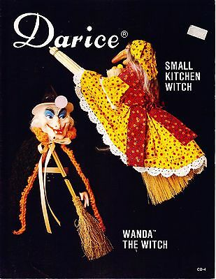 Vintage Small Kitchen Witch &  Wanda Witch Pattern by Darice