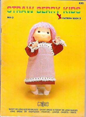 Vintage Straw Berry Kids Pattern Book 1 MH-2 Uncut Pattern Sheet Miniature House