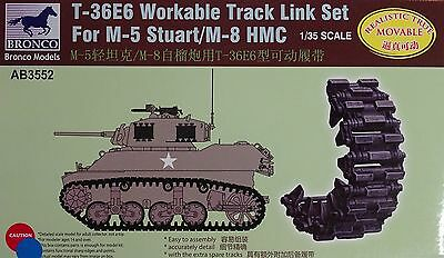 BRONCO AB3552 T-36E6 Workable Track Links for M-5 Stuart / M-8 HMC in 1:35