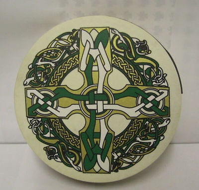 "IRELAND Irish MUSIC 8"" CELTIC CROSS Waltons Bodhran Drum Beater 2 Items"