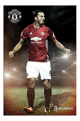 Zlatan Ibrahimovic Manchester United 2016 / 2017 Poster - Maxi Size 36 x 24 Inch