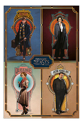 Fantastic Beasts Cast Film Movie Poster New - Maxi Size 36 x 24 Inch