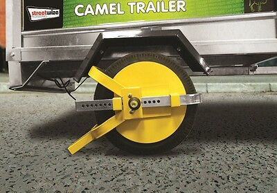 "Streetwize SWWL4 Wheel Clamps - Full Face -8""-10"" For Trailers"