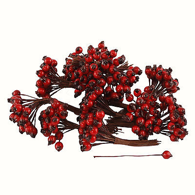 Artificial Red Rosehip Berries 6mm (x288) Alternative to Christmas Holly Berries