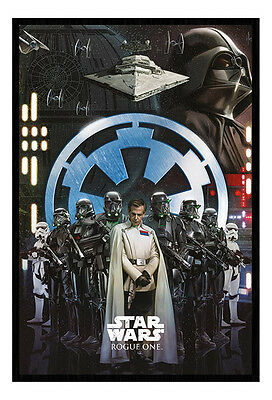 Framed Star Wars Rogue One Empire Poster New