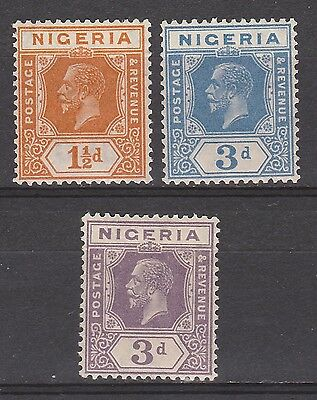 Nigeria 1921 Kgv 11/2D And 3D Both Colours Wmk Multi Script Ca