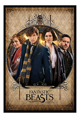 Framed Fantastic Beasts Film Movie Group Poster New