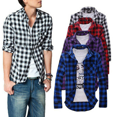 Mens Check Shirt Brave Soul Flannel Brushed Cotton Long Sleeve Casual Tops