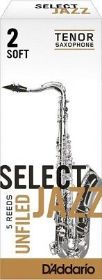 Rico RRS05TSX2S Unfiled Soft 2 Strength Select Jazz Reed for Tenor Sax (Pack of