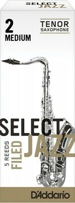 Rico RSF05TSX2M Filed Medium 2 Strength Select Jazz Reed for Tenor Sax (Pack of