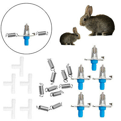 5/10Pcs Automatic Nipple Feeder Water Drinking Trough Waterer Rabbit Rodents New