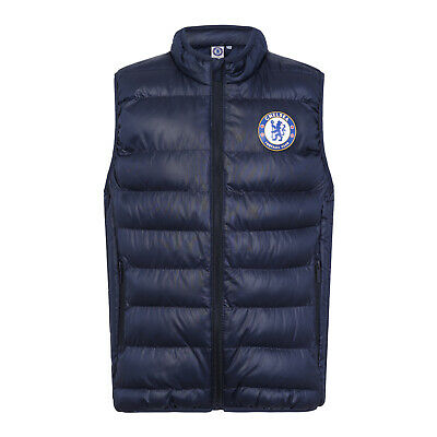 Chelsea FC Official Football Gift Boys Padded Body Warmer Jacket Gilet