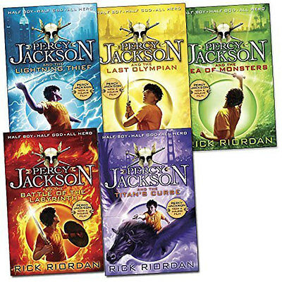 Percy Jackson Collection - 5 Books (Paperback), Children's Books, Brand New