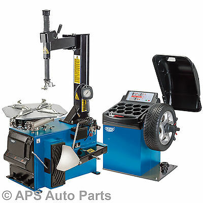 "Draper Expert 16235 Tyre Changer & Wheel Balancer Kit Car Van 24"" Wheel Size"