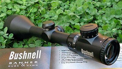 Bushnell 3-9x56E R&G Illuminated Rifle Scope With Two Rings (Sniper' Choice)