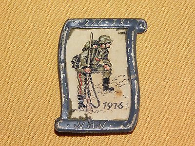 Vintage Old Tin Military Wwi Germany German Medal 1916 Soldier Pin