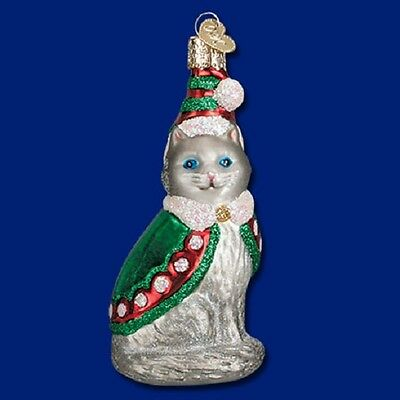 """Elf Kitty"" (12411) Old World Christmas Glass Ornament"