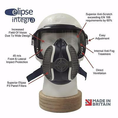 Elipse Integra ¾ Mask System Dust Welding Fumes Safety Mask & Eye Protection M/L