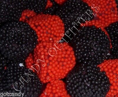 JELLY BELLY CANDY - Raspberries & Blackberries Candies - Red and Black Gumdrops