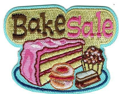 Girl Boy pink BAKE SALE baked goods Patches Crest Badge SCOUT GUIDE school