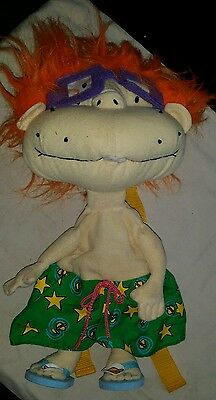 "Rugrats Chuckie Finster 16"" plush toy  Nickelodeon vintage rucksack back pack"