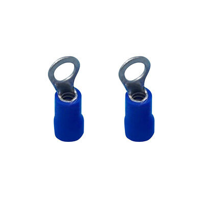100pcs Blue Insulated 4.3mm Ring Connector Electrical Terminals Cable Wire