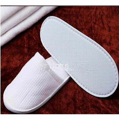 Bulk Lot x 48 Pairs White Disposible Hotel Slippers Spa Guest Travel Wedding Rec