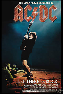 AC/DC  * Let There Be Rock *  USA Movie Poster 1980