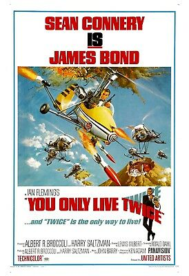 James Bond: * You Only Live Twice *  Sean Connery USA Movie Poster 1967