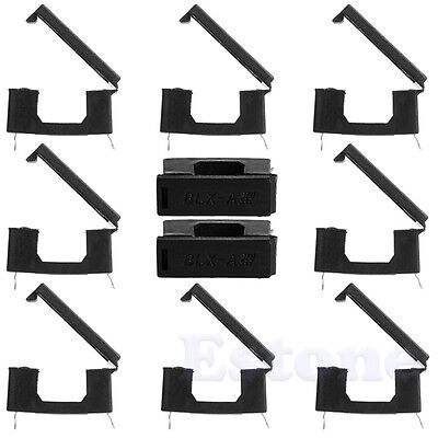 Fuse Holder With Cover Chassis/Panel Mount BLX-A Black Fr PCB Board 5x20mm 10Pcs