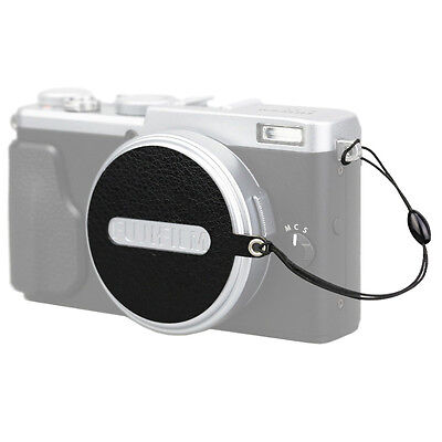JJC Leather Stickup Lens Cap Keeper Cover Holder String Rope for Fujifilm X70