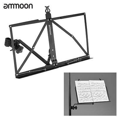 ammoon Portable Adjustable Angle Folding Clip-on Music Sheet Book Stand N1E8