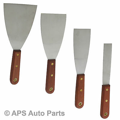 "New Heavy Duty Paint Scraper 1"" 2"" 3"" & 4"" Available Tempered Spring Steel Blade"