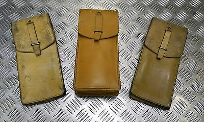 Genuine Vintage Military Issue Long Leather Ammo / Utility Pouch  Un-Issued