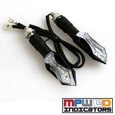 MPW Universal 12v Clear Lens Mace Motorcycle Micro LED Indicator