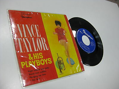 "Vince Taylor & His Playboys Spanish Ep 7"" Right Behind You Baby + 3"