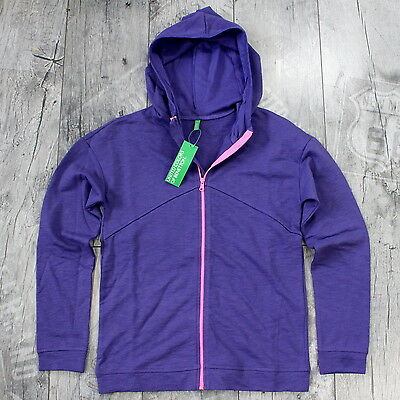 United Colors Of Benetton Hoodie Gr. L Kapuzenjacke ZIP Pullover Violett D056