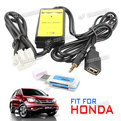 Car USB SD Aux in Adapter MP3 Player Radio Interface for Honda Accord Civic Fit
