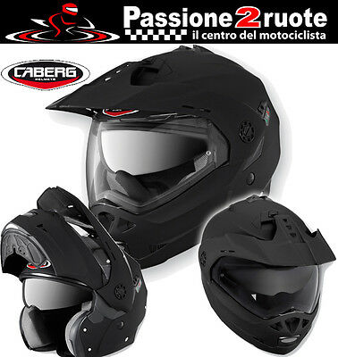 Helm Caberg Tourmax Matte Black Casque Modulable Enduro Motard