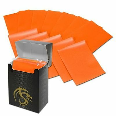 Deck Guard Deck Protector Sleeve Matte Orange 80 Count Bcwdgm80Or