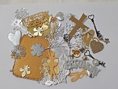 MIXED PACKS of 50 Cardmaking & Craft EMBELLISHMENTS including DIE-CUTS