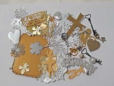 SURPRISE MIXED PACKS of 50 Cardmaking & Craft EMBELLISHMENTS including DIE CUTS